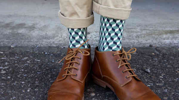 FeedTheMonkey,Dilly Green Dice Socks 2